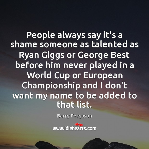 People always say it's a shame someone as talented as Ryan Giggs Image