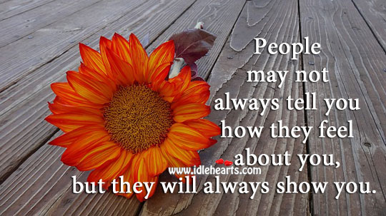 People may not always tell you. Image