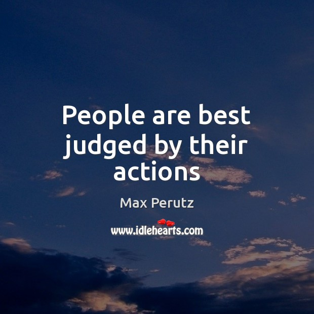 Image, People are best judged by their actions
