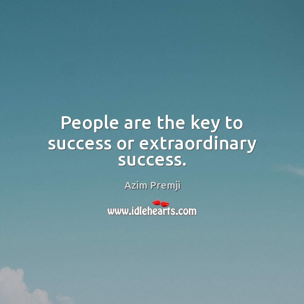 Image, People are the key to success or extraordinary success.