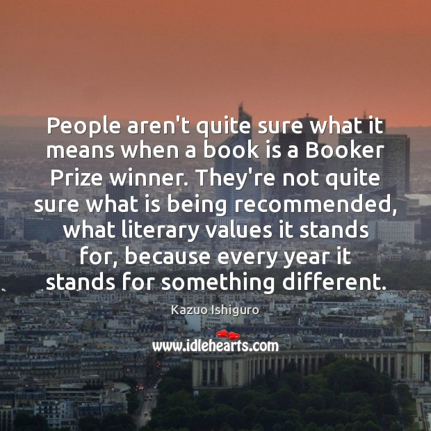 People aren't quite sure what it means when a book is a Image