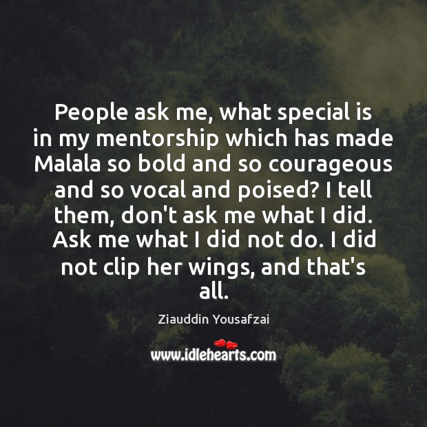 Image, People ask me, what special is in my mentorship which has made