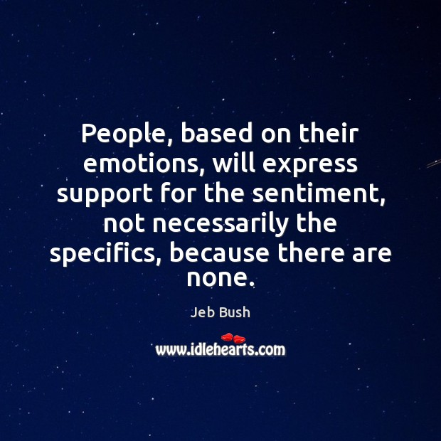 People, based on their emotions, will express support for the sentiment, not Image