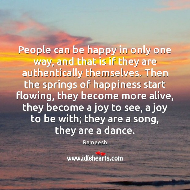 Image, People can be happy in only one way, and that is if