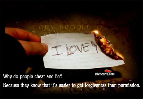 Why do people cheat and lie?