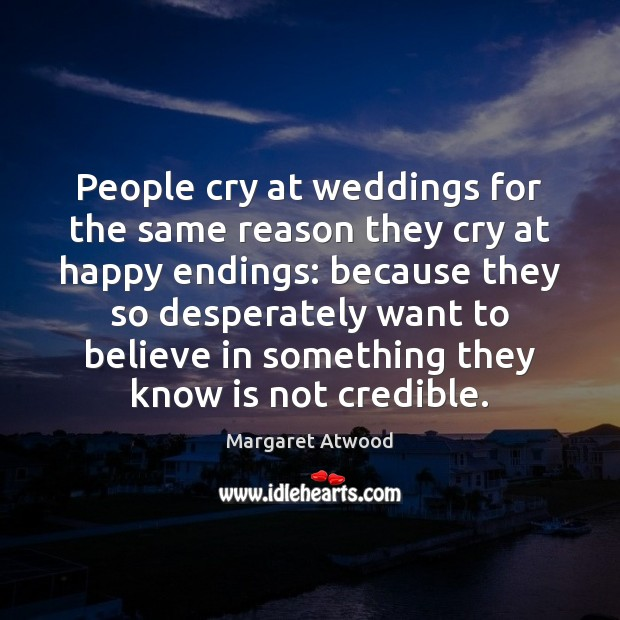 People cry at weddings for the same reason they cry at happy Image