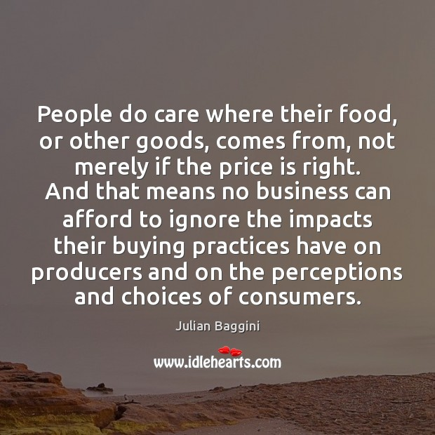 People do care where their food, or other goods, comes from, not Image