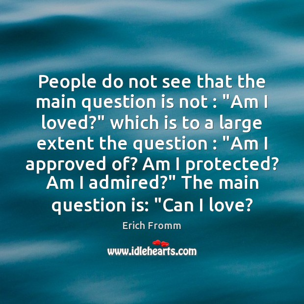 """People do not see that the main question is not : """"Am I Image"""
