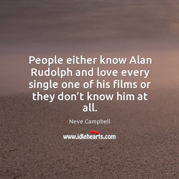 People either know alan rudolph and love every single one of his films or they don't know him at all. Image