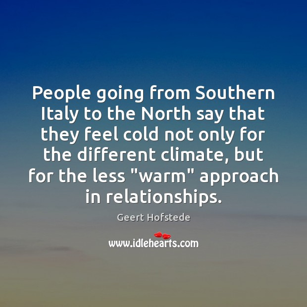 People going from Southern Italy to the North say that they feel Image