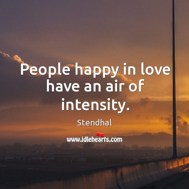 Image, People happy in love have an air of intensity.