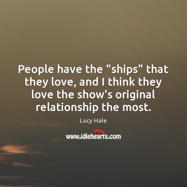 """People have the """"ships"""" that they love, and I think they love Image"""