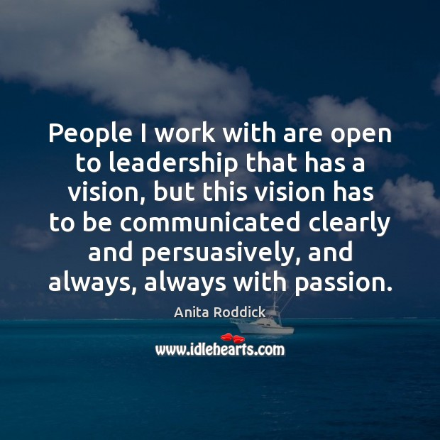 People I work with are open to leadership that has a vision, Image
