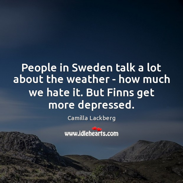 Image, People in Sweden talk a lot about the weather – how much