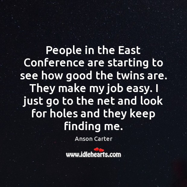 People in the East Conference are starting to see how good the Image