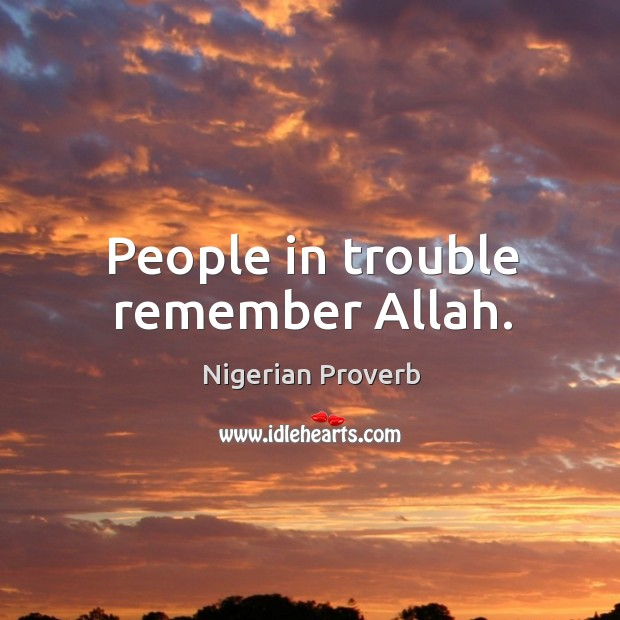 People in trouble remember allah. Image