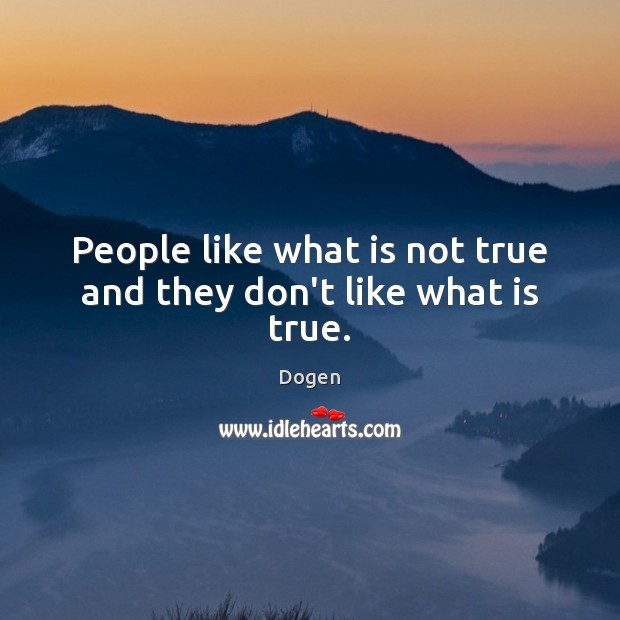 People like what is not true and they don't like what is true. Image