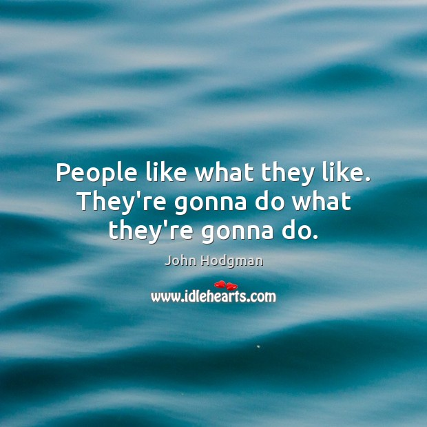 John Hodgman Picture Quote image saying: People like what they like. They're gonna do what they're gonna do.