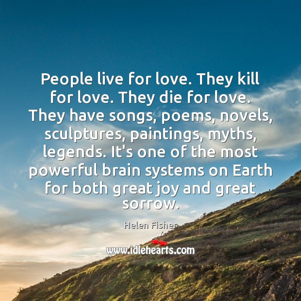 People live for love. They kill for love. They die for love. Image