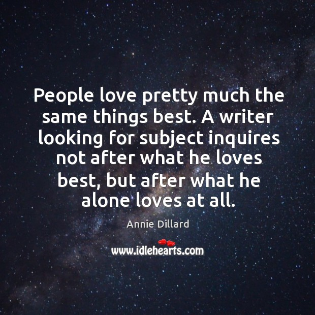 People love pretty much the same things best. Image