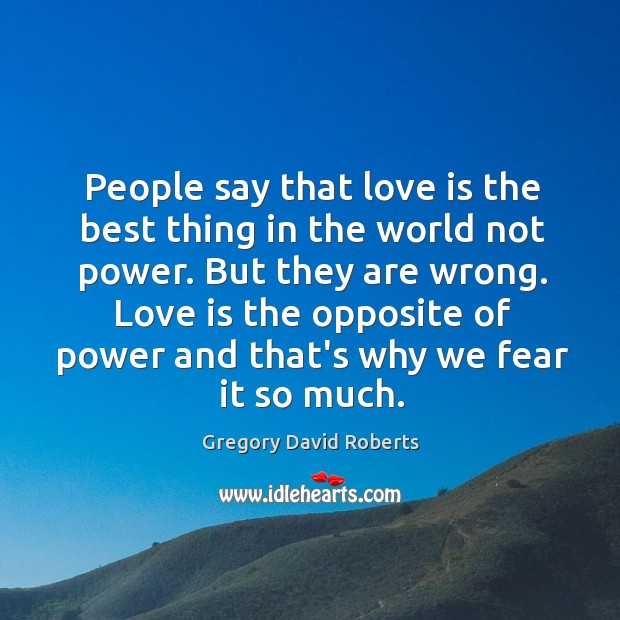 People say that love is the best thing in the world not Image