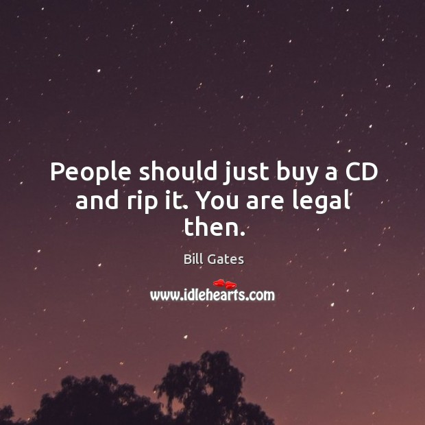Image, People should just buy a CD and rip it. You are legal then.