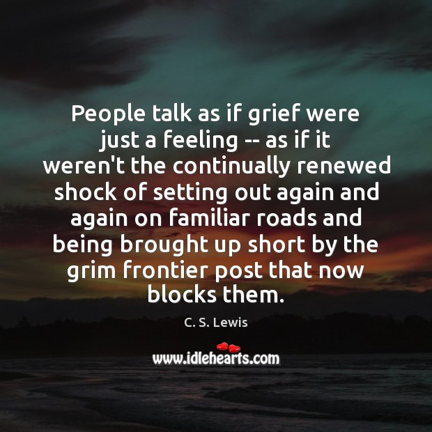 Image, People talk as if grief were just a feeling — as if