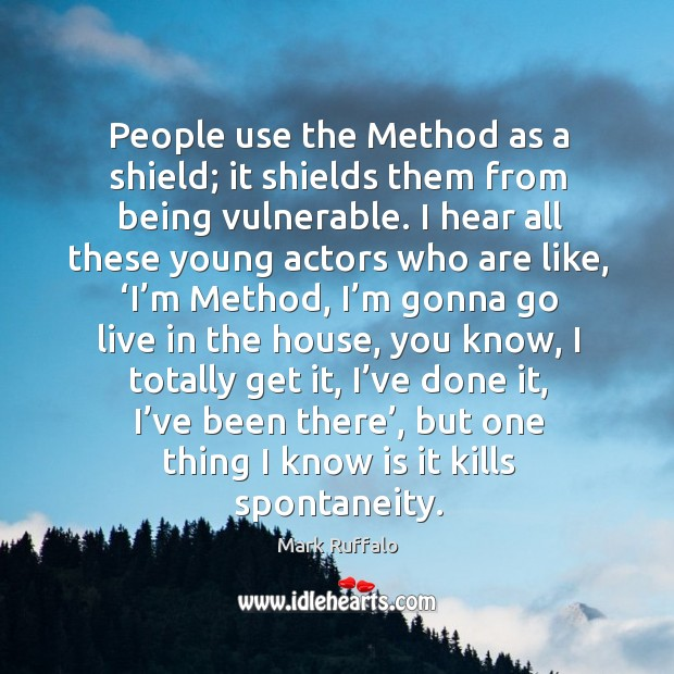Image, People use the method as a shield; it shields them from being vulnerable.