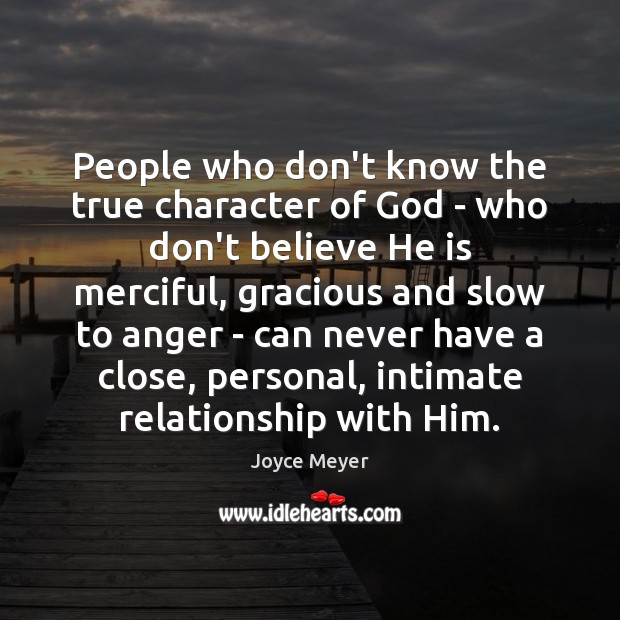 Image, People who don't know the true character of God – who don't