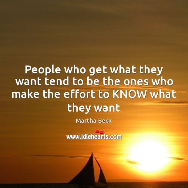 Image, People who get what they want tend to be the ones who