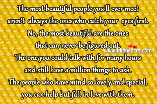 The People Who Have Mind So Lovely And Special