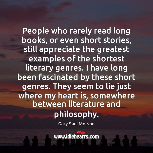 People who rarely read long books, or even short stories, still appreciate Image