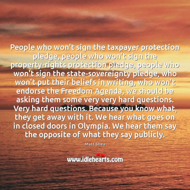 People who won't sign the taxpayer protection pledge, people who won't sign Image