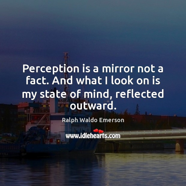 Perception is a mirror not a fact. And what I look on Perception Quotes Image