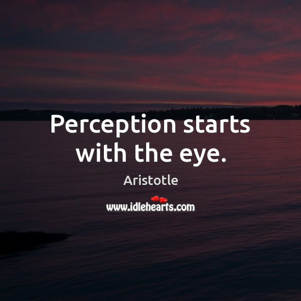 Image, Perception starts with the eye.