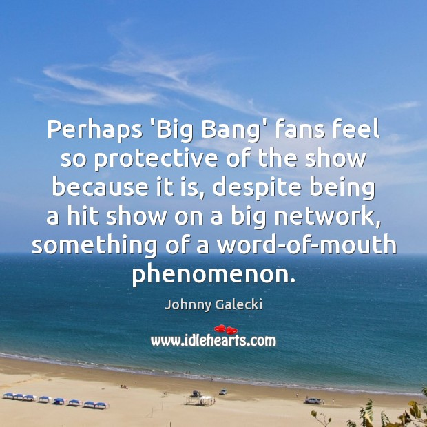 Image, Perhaps 'Big Bang' fans feel so protective of the show because it