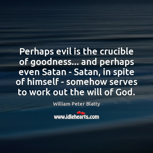 evil often triumphs crucible Arthur miller and the crucible awareness of the puritan paranoia about sin and evil that helps feed the often cave in to authority figures.
