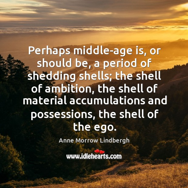 Image, Perhaps middle-age is, or should be, a period of shedding shells; the shell of ambition