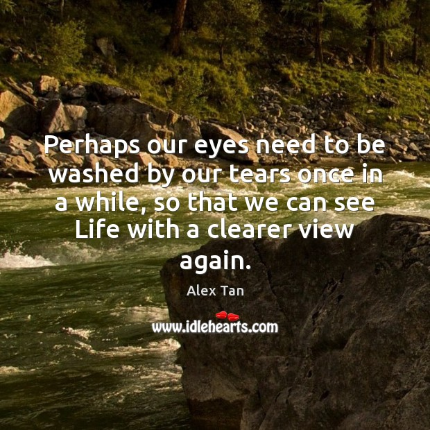 Perhaps our eyes need to be washed by our tears once in Image