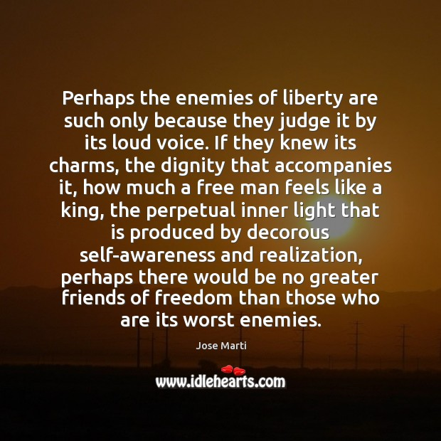 Perhaps the enemies of liberty are such only because they judge it Image