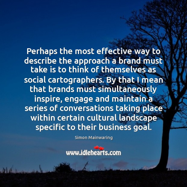 Perhaps the most effective way to describe the approach a brand must Image