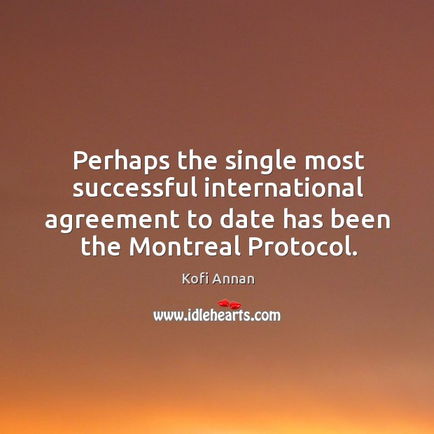 Image, Perhaps the single most successful international agreement to date has been the