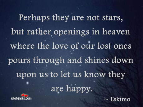 Perhaps They Are Not Stars, But Rather Openings In Heaven