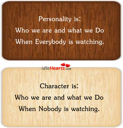 Personality VS Character
