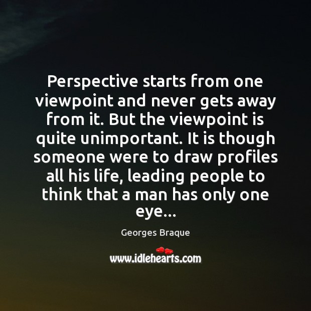 Perspective starts from one viewpoint and never gets away from it. But Image