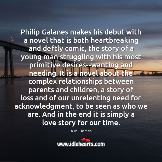 Image, Philip Galanes makes his debut with a novel that is both heartbreaking