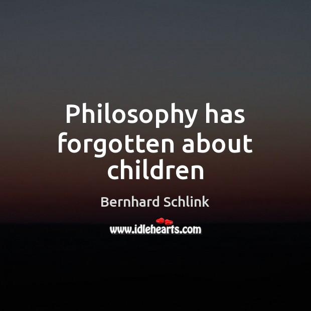 Philosophy has forgotten about children Image