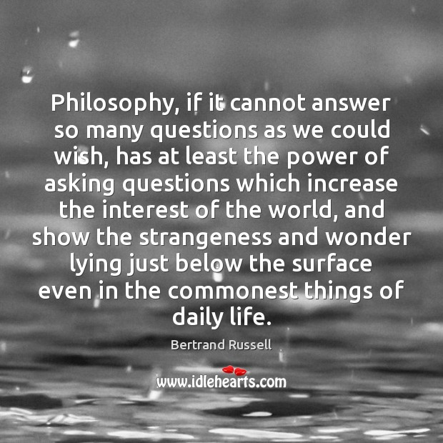 Philosophy, if it cannot answer so many questions as we could wish, Image