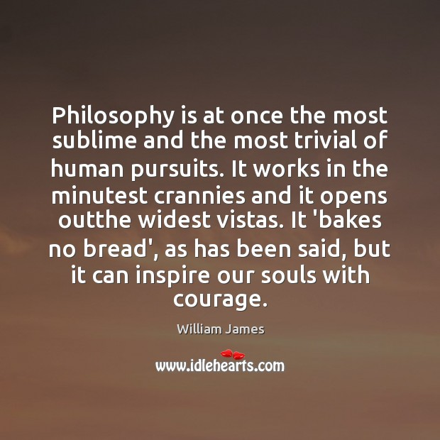 Image, Philosophy is at once the most sublime and the most trivial of