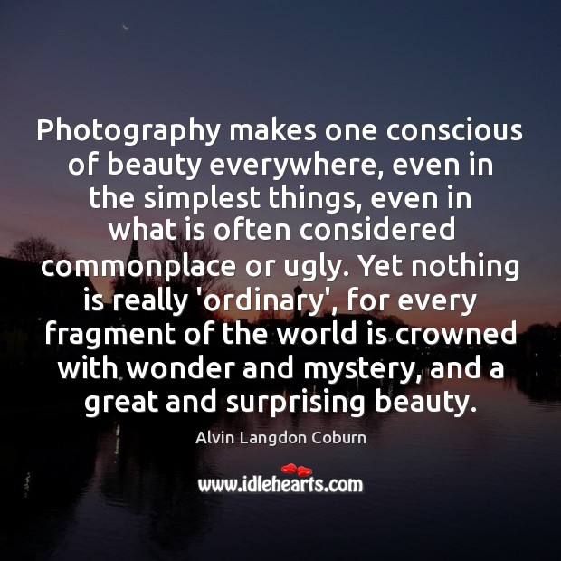 Image, Photography makes one conscious of beauty everywhere, even in the simplest things,